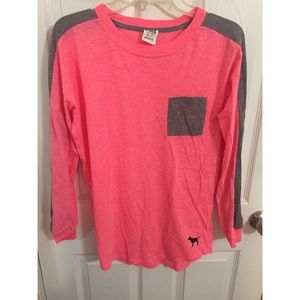 Hot pink Victoria's Secret PINK long sleeve top